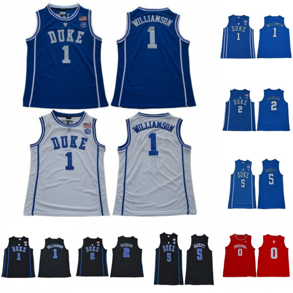 top popular NCAA Zion 1 Williamson Duke Blue Devils College Jersey RJ 5 Barrett Cameron 2 Reddish Indiana Hoosiers Romeo 0 Langford College Blue White 2020