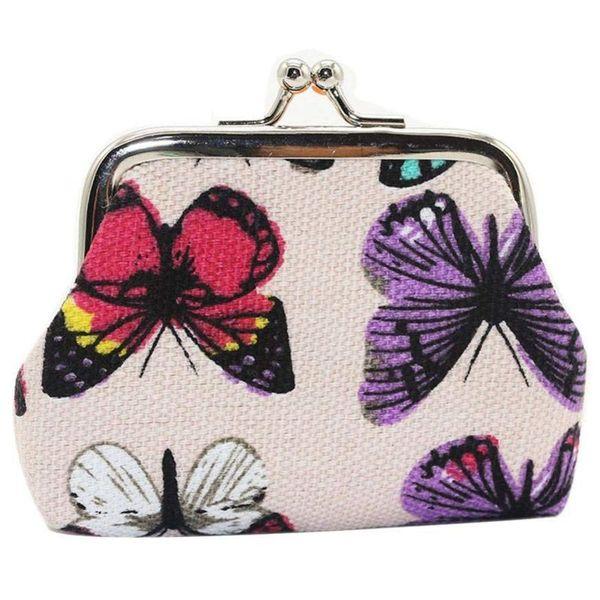 Bolso de mano del monedero del monedero de la cartera de la pequeña cartera de la mariposa de las mujeres