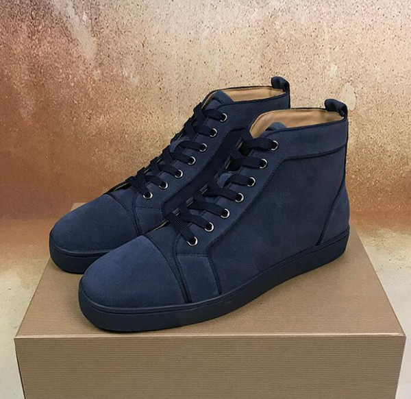 [original box] Red Bottom Men,Women Shoes Restoring Ancient Ways Genuine Leather High Top Sneakers Shoes,Outdoor Flats Walking Party Shoes