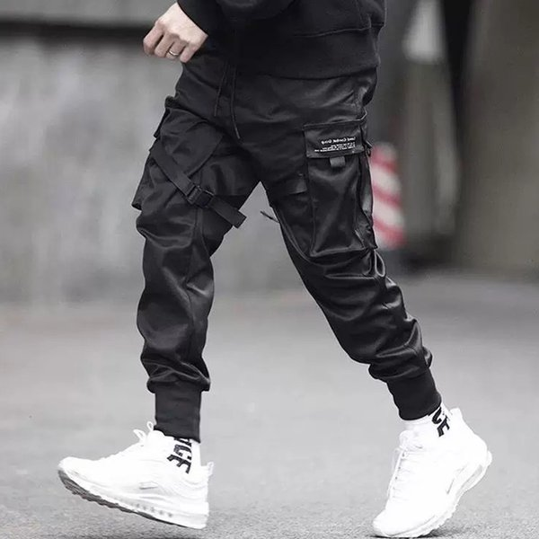 April MOMO 2019 Uomo Multi-pocket Harem Hip Pop Pantaloni Pantaloni Streetwear Pantaloni sportivi Hombre Maschio Casual Moda Pantaloni cargo Uomo