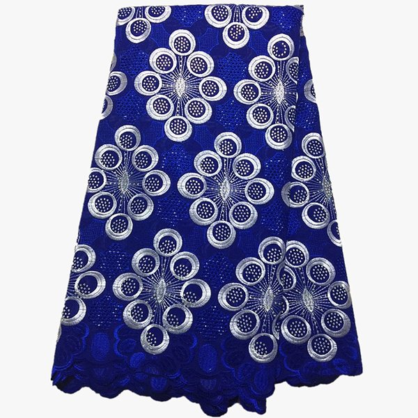 latest african laces 2019 Cotton Lace Fabrics african fabric swiss voile lace with stones for dress