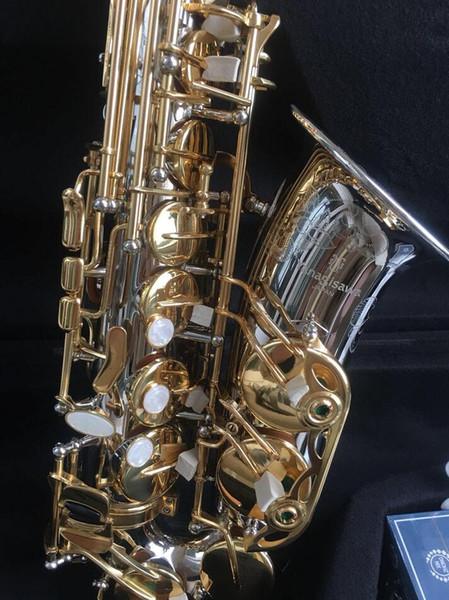 Grabado YANAGISAWA A-WO37 Alta Saxofón Chapado en Níquel Dorado Clave Profesional Boquilla Saxo Con Estuche