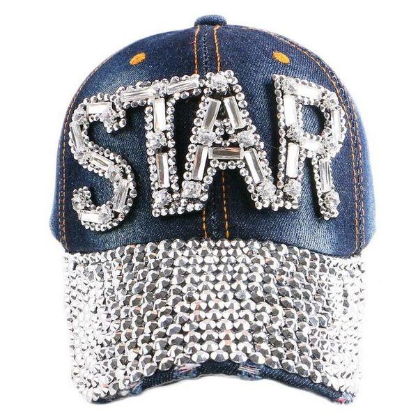 Buy Women Cowboy Hat Star Diamond Snapback Hats Cheap Designer Baseball Caps Custom snapback hats New Cool snapbacks for women Hats for sale