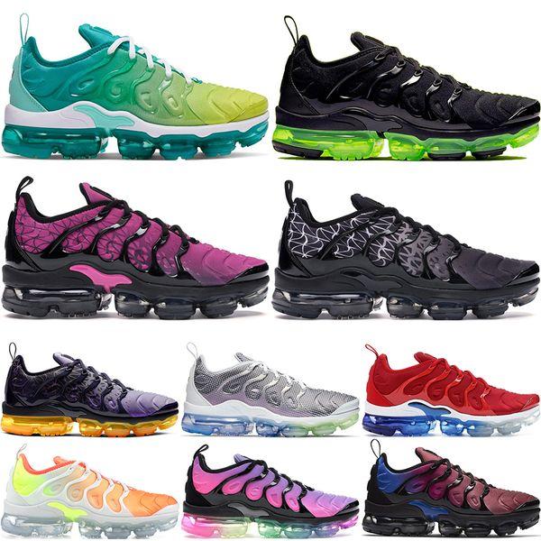 top popular Plus Tn Rainbow Running Shoes mens Bumblebee Be True Grape Triple Black Designer Shoes Womens Sherbet Team Red Black White Sneakers 36-45 2019