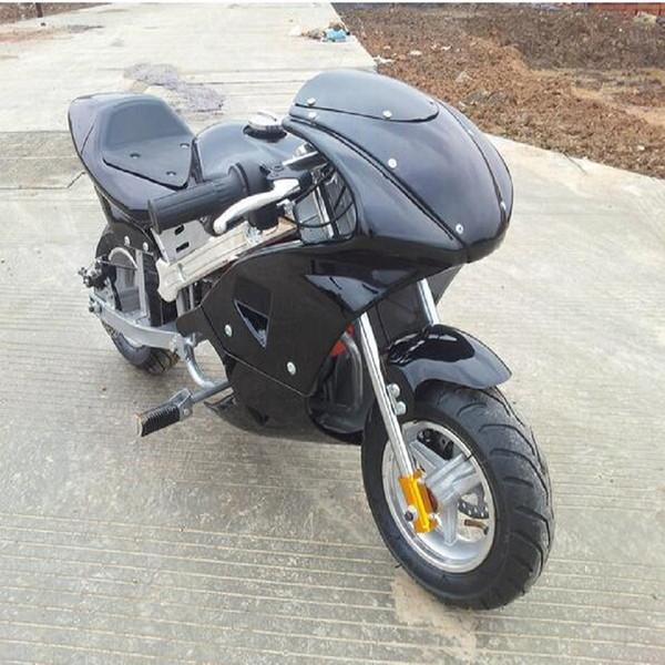 2 temps 49cc Mini Dirt Bike pour enfants démarreur électrique enfants essence moto vélo gaz moto