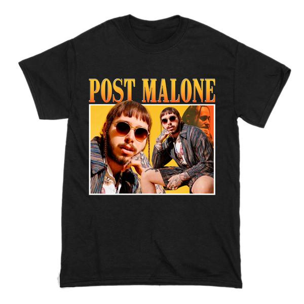 Post Malone Tee Tops Stoney Blanc Iverson Hip Hop Tribute Lil Uzi Quavo T-shirt De Base Homme T-Shirt O-Cou À Manches Courtes Hommes 2019