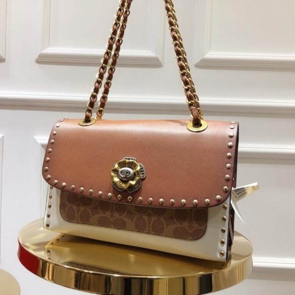 Bolsos de diseño de moda de lujo bolsos totes Messenger Bag Crossbody Bolsas 2019 productos encantadores 26 * 18 * 10 cm Flor de metal