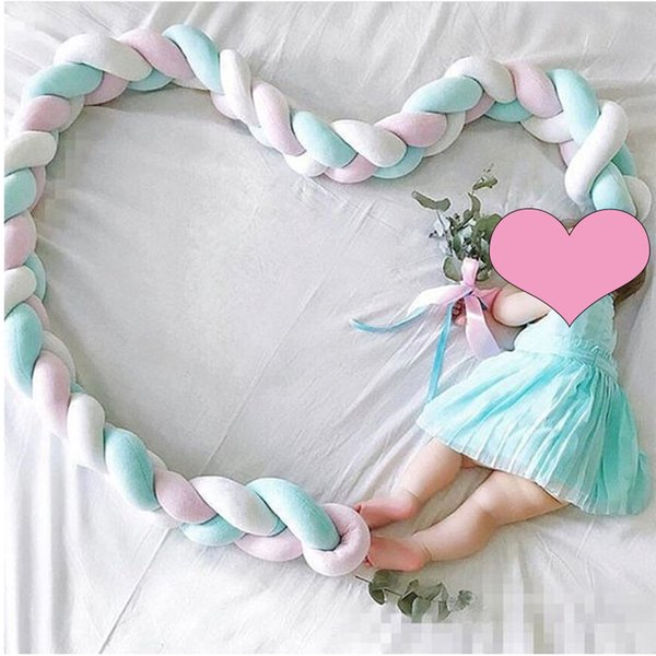Braids Bed Bumper Knot Pillow Baby Crib Protection Cot Bumper Bedding Cradle Shower Gift Braided Crib