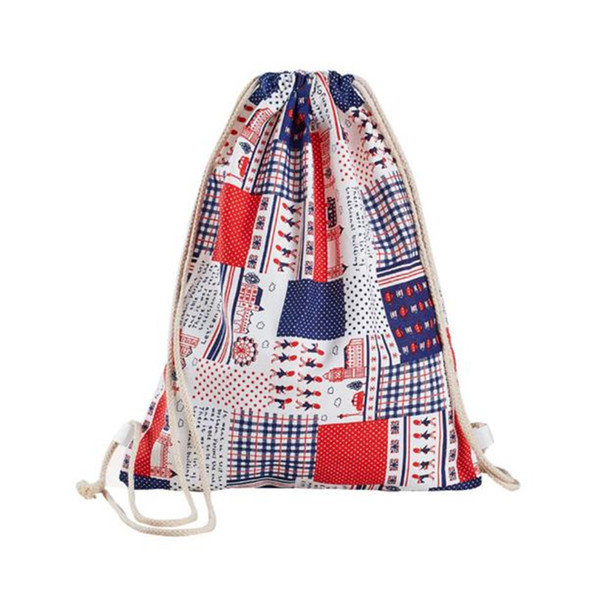 2019 Large Unisex Women Solid Drawstring Beam Port Package Schoolbag Shopping Travel Bags Female plain cotton drawstring bag
