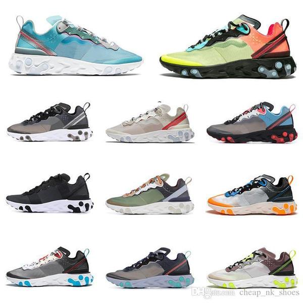Venda quente reagir elemento 87 55 tênis para mulheres dos homens branco preto Royal Tint Sail mens treinador sports sneakers respirável corredor