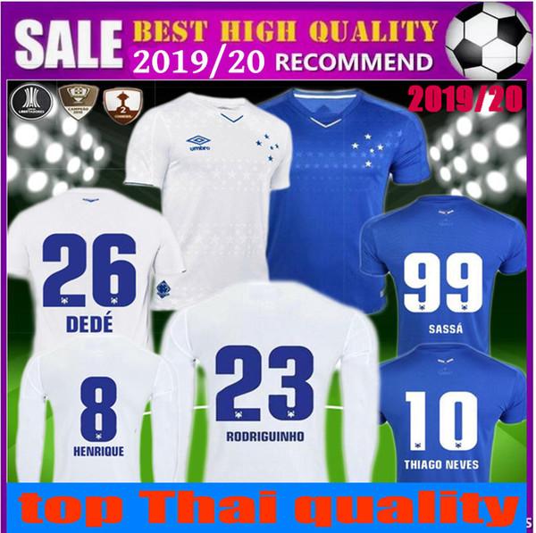 Brezilya ligi Cruzeiro forması 2019 FRED HENRIQUE Uzun Kısa kollu futbol formaları 19 20 brasil ev mavi üçüncü uzakta beyaz futbol gömlek