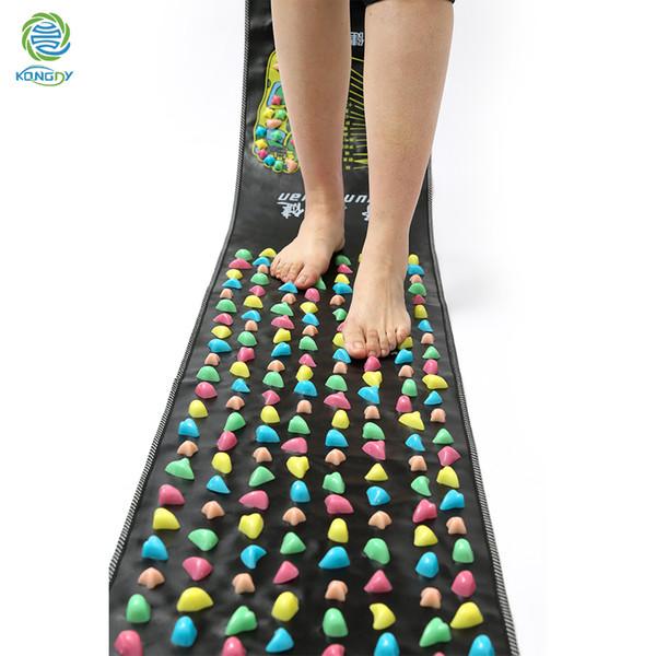 vendita all'ingrosso colorato plastica massaggiatore del piede pad 1 pezzo cinese reflexology assistenza sanitaria tappetino digitopressione piedino cobbleston massageador