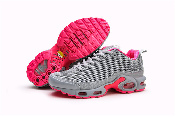 detailed look b2095 d2ae5 2019 Women Mercurial Plus Tn Ultra SE Gray Pink White Orange Running Shoes  Zapatillas Mujer Womens Tns Trainers Sports Sneakers Size 36 40 Latest ...