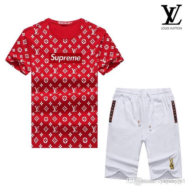 NEWST Primavera Marca Designer de Luxo Mens Treino T-shirt de Verão + Calça Conjuntos de Sportswear Manga Curta Correndo Jogging Alta Qualidade Plus Size
