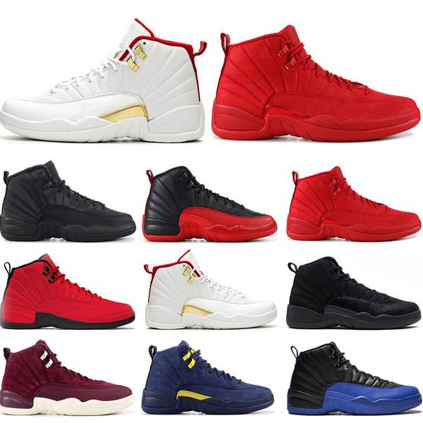 En kaliteli havaRetroJordan bsaketball ayakkabı 12 s FIBA Oyunu Kraliyet NAYLON Ters Taksi KOYU GRI eğitmenler spor sneakers boyut 7-13