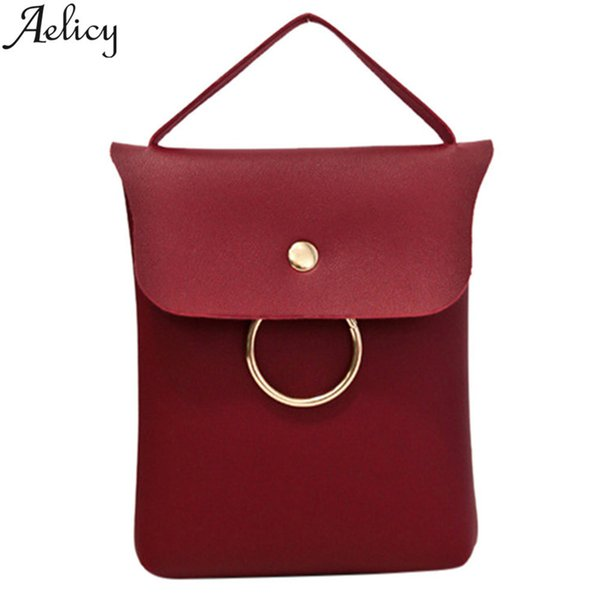 Cheap Aelicy Small Women Messenger Bag Simple Designer PU Leather Crossbody Bag Ladies Hasp Female Bags Bolsas Femininas sac a main