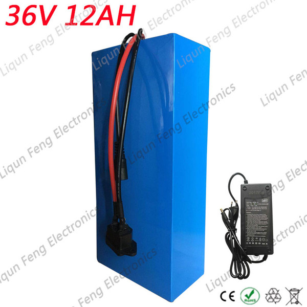 Electric Bicycle 36V Battery 12AH 500W EBike Battery 36V 12AH with 42V 2A charger 20A BMS 36V Lithium Scooter Battery for a bike