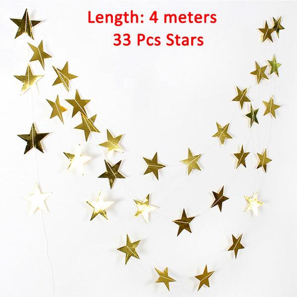 bannière étoile d'or