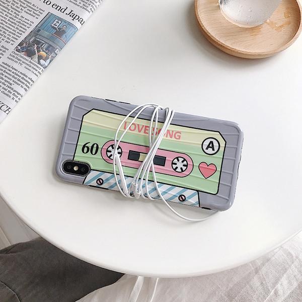 Retro caso della valigia della cassa del telefono del nastro per Iphone Xs Max Xr 6 7 8 X rivestimento laterale del modello di più casi IMD casi del telefono cellulare