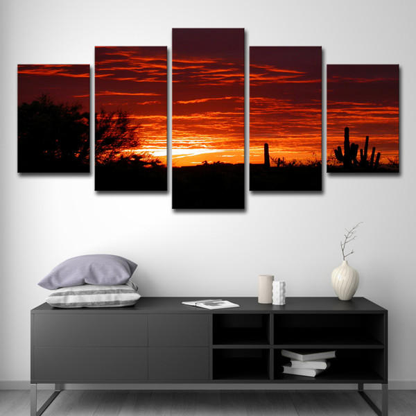 Cool 2019 Wall Art Canvas Painting Hd Print Pictures Room Home Decor Desert Sky Was Aglow With Sunset Colours Poster From Print Art Canvas 16 41 Ocoug Best Dining Table And Chair Ideas Images Ocougorg