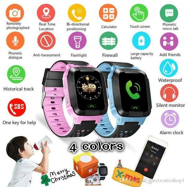 Unisex Children Tracker Smart Watch Remote GPS Security SOS Call Anti-Lost Wristwatch Smart Watch for kids