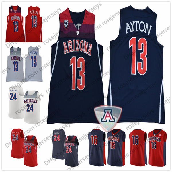 huge discount ba676 83073 2019 NCAA Arizona Wildcats #12 Justin Coleman 10 Ryan Luther 10 Bibby 13  Ayton 24 Iguodala Deandre Mike Andre Red Navy Blue White Jersey From ...