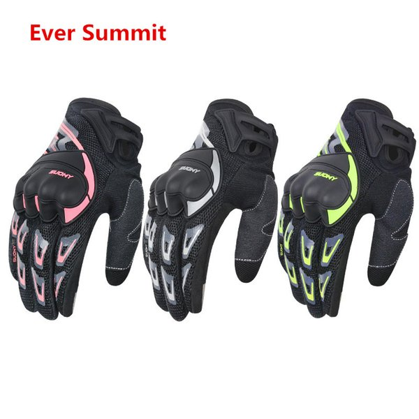 Motorcycle Gloves Thin Section Mesh Breathable Riding locomotive Knight Anti-Offroad Racing men All-Finger BMX ATV MTB MX Glove Hand - SU-11