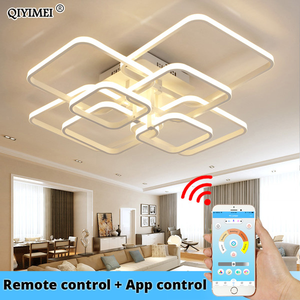 modern led chandelier with remote control acrylic lights for living room bedroom home chandelier ceiling fixtures ing