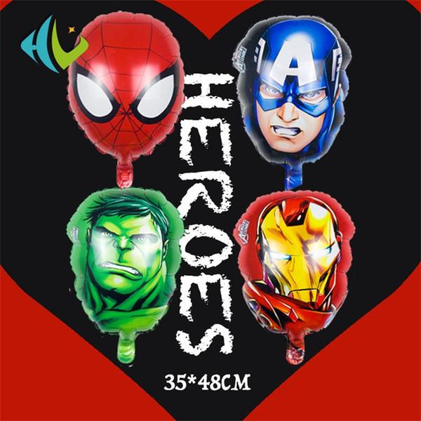 The Avengers Globo Capitán América Airballoon Spiderman Hulk Ironman Flotante Decoración de Halloween Moda clásica 0 62hl F1