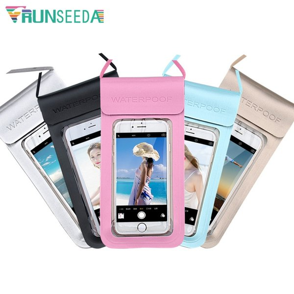 Runseeda New Luxury Swimming Bag Double Seal Waterproof Mobile Phone Pouch Surfing Diving Beach Seaside Universal Cellphone Case #636172