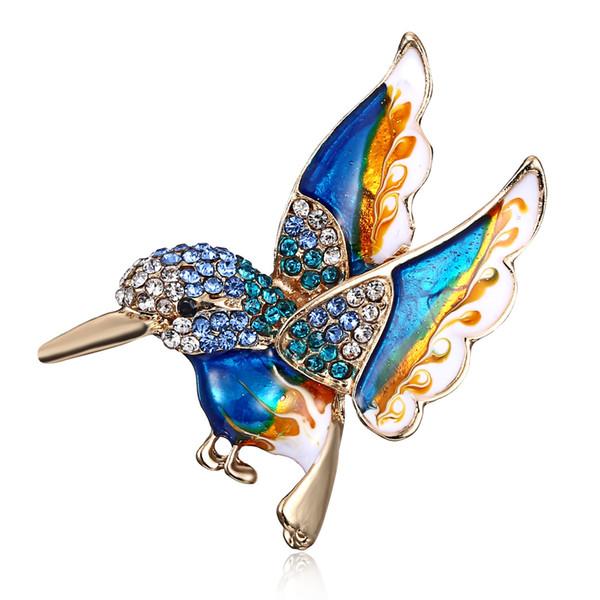 Fashion Luxury Enamel Pin Aerial Bird Brooch for Men and Women Animal Deign European USA Style Jewelry Gift