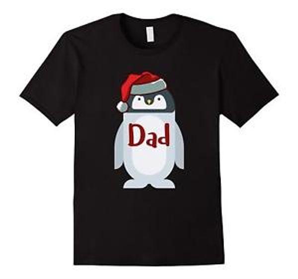 Camiseta de Navidad estampado de pingüino corto SShirtve Tops camiseta talla grande hombres Navidad moda