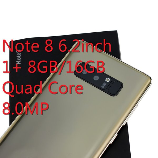 Goophone note 9 N8 6.2 inch Android phone quad core 1G+4G 8G SmartPhone real GPS WiFi Smart Phone