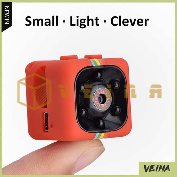 SQ11 Mini Camera HD 1080P Videocamera per visione notturna Auto DVR Videoregistratore a infrarossi Sport Fotocamera digitale Supporto TF Card DV Camera