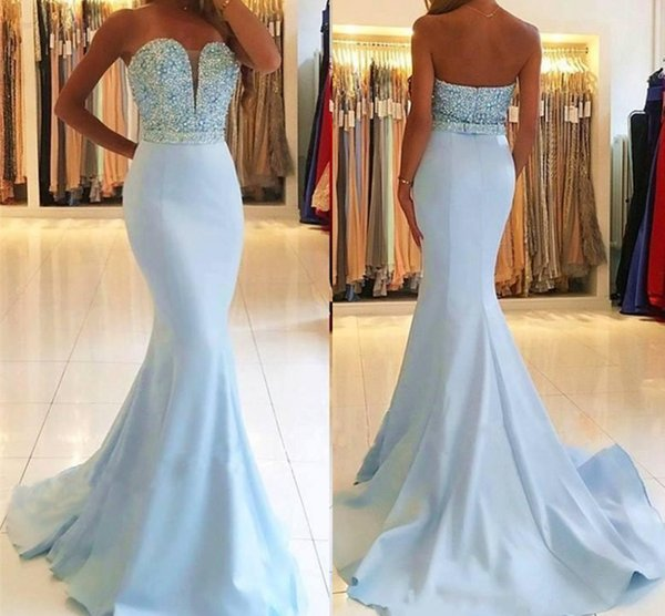 Custom Made Plus Size Summer Mermaid Backless Evening Dress Sweetheart  Beaded Pageant Formal Holiday Wear Prom Party Gown Truworths Evening  Dresses ...