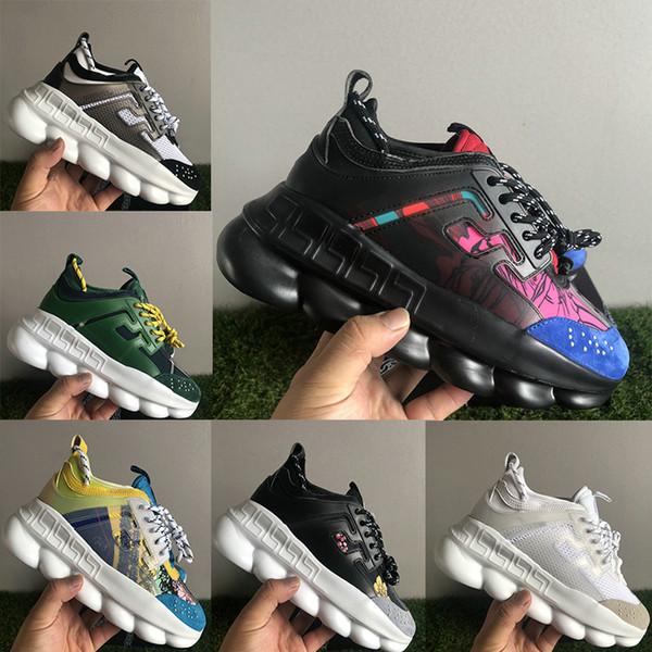 Vendita calda Reazione a catena Scarpe multi colore in pelle scamosciata di altezza crescente Scarpe firmate Moda uomo Scarpe da ginnastica Sneakers Scarpe casual
