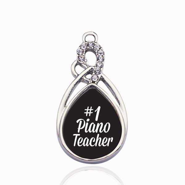 #1 Piano Teacher Circle Charm DIY Jewelry Accessories Making For Necklace&Bracelets