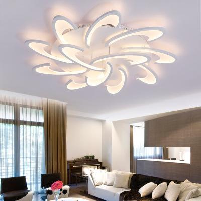 Modern Akrilik Tasarım Tavan Işıkları Yatak Odası Oturma Odası 90 ~ 260V Beyaz Tavan Lambası LED Ev Aydınlatma Işık Fikstür plafonni110V `260`