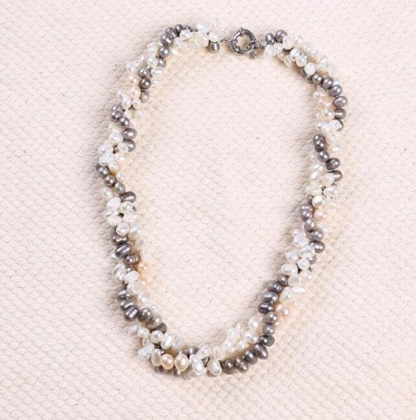 FREE SHIPPING ! + + Freshwater pearl necklace jewelry wholesale authentic 5-6mm manufacturers selling Europe and the United States