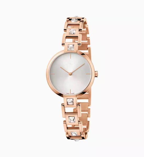Nouvelles dames diamant montre mode couleur montre circulaire plaque en acier ceinture mouvement quartz robe des femmes des affaires casual sport bracelet bracelet