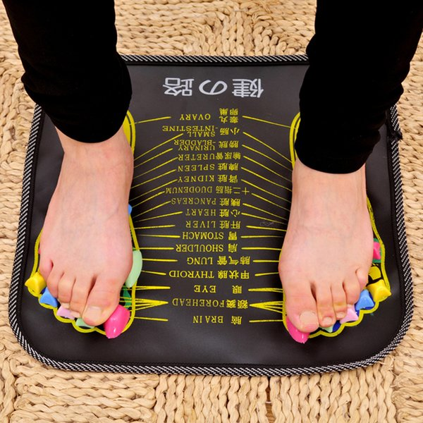 1Pc Acupuncture Cobblestone Foot Reflexology Massage Pad Walk Stone Square Foot Massager Cushion for Relax Body Pain Health Care C18122801