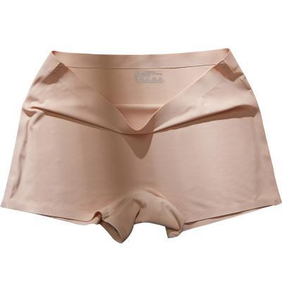 20190602 Uma peça de seda gelo sem costura anti-alisamento de algodão puro virilha quatro-canto calças de segurança