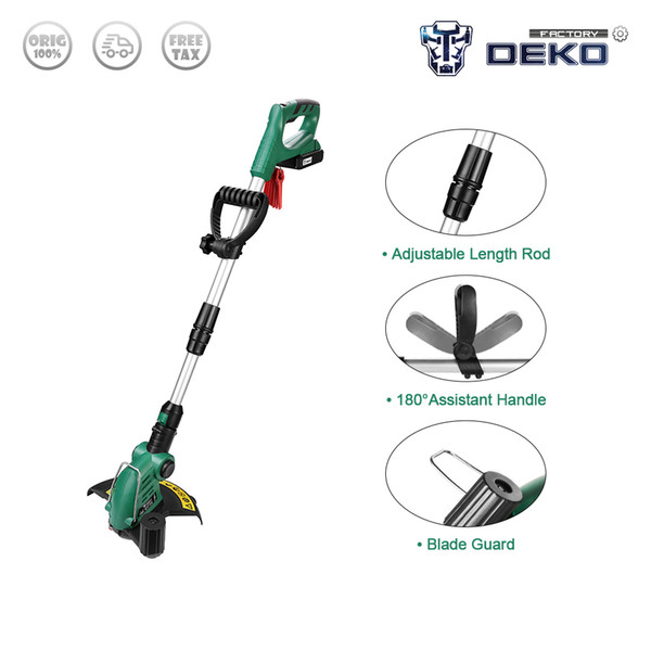 factory outlet deko dkgt06 cordless grass string trimmer with 20v lithium 1500mah battery pack and blade pendants