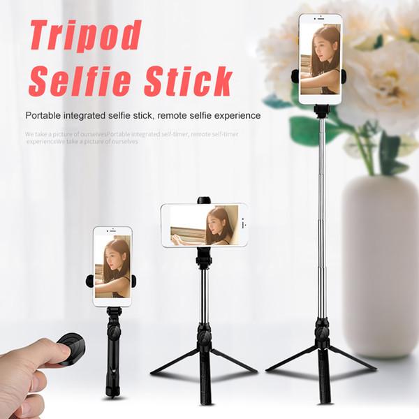 Bluetooth Selfie Stick Mini treppiede Selfie Stick estensibile palmare autoritratto con otturatore remoto Bluetooth per Iphone X 8 7 con scatola