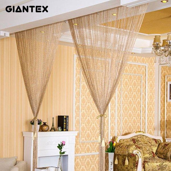 2019 2.9x2.9m Modern Living Room Curtains Thread Curtains String Curtain  Door Bead Sheer Curtains For Window Bedroom Cortinas Salon D19011506 From  ...