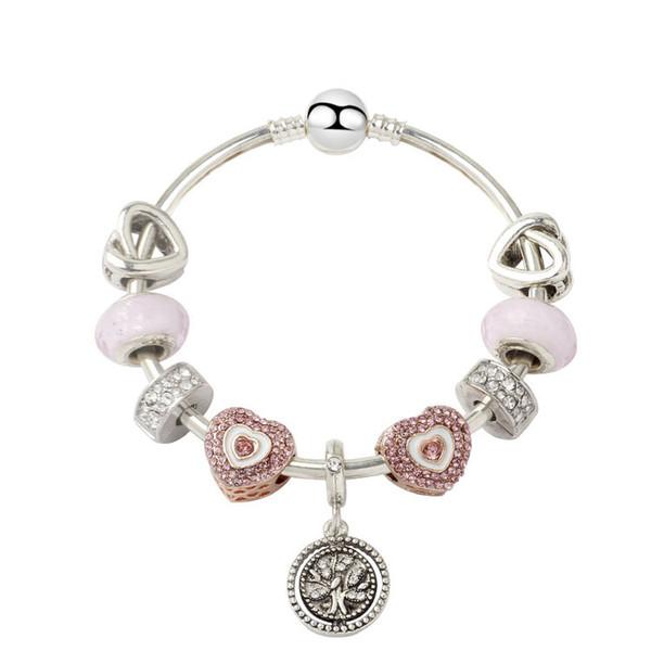 Pandora Stil beliebte Lebensbaum Armband Legierung Mode Frauen Armbänder Jewelly Zubehör Party Geschenk Mädchen Geburtstag