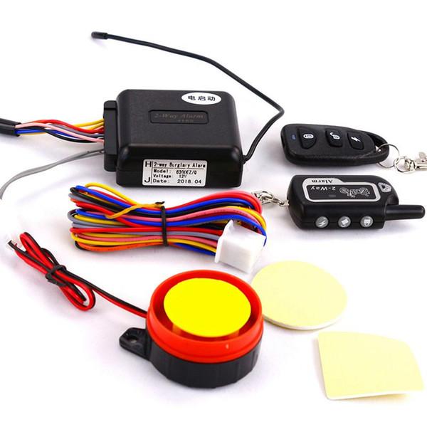 Sicurezza del motorino dell'allarme del motociclo dell'allarme bidirezionale Automobile del sistema del blocco di vibrazione di inizio del motore di telecomando di vibrazione