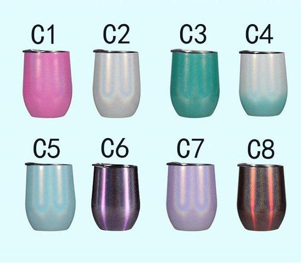 rainbow wine glasses(C1-C8)