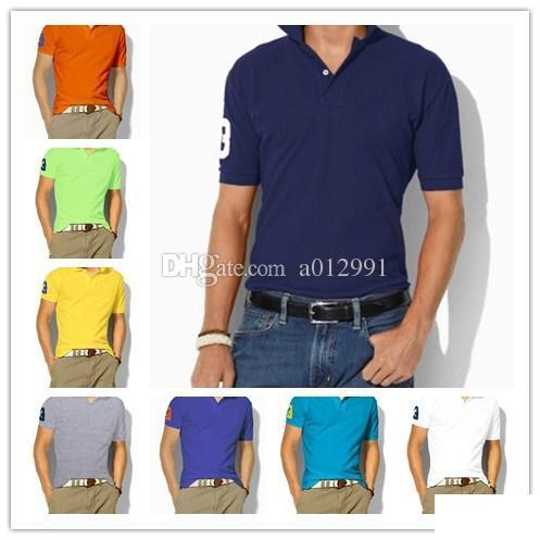 High quality Summer horse Polo Shirt USA American Designer Polo Shirts Men Short Sleeve Sport Casual Polo fashion Solid classic tshirt