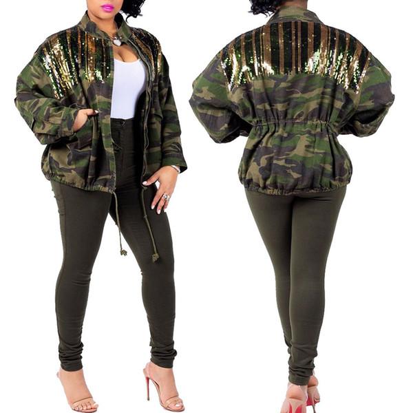 Windjacke F0574 Taschen Von Mode Sarmit24 Großhandel Büste Camouflage Shirts Mantel Pailletten Frauen Freizeitkleidung 78 Blazer Auf Jacket Mit Aj3RLqSc54
